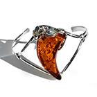 curved amber bangle