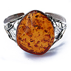 Asymmetrical amber bangle