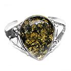 green amber bangle