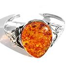 large amber bangle