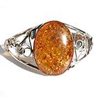 orange amber bangle