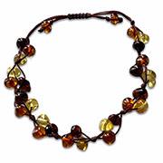 multi-coloured ambers bracelet