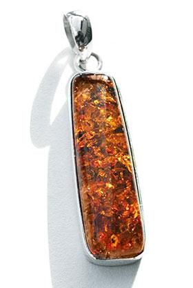 long slim amber pendant