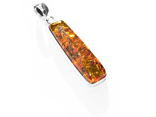 slim amber pendant