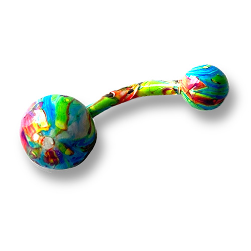belly -bar with a finish of psychedelic colours