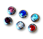 threaded jewelled balls