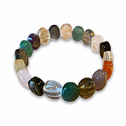 bracelet with oval cut gemstones