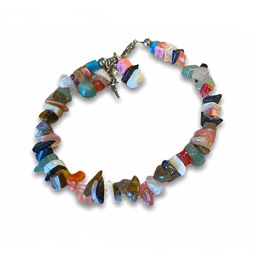 bracelet with amethyst rose-quartz and lapis gemstones