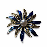 brooch of a colourful flower