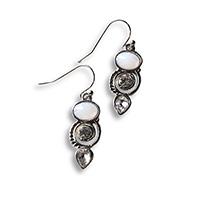 dangle earrings with a moonstone