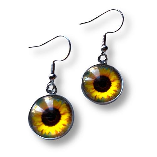 sunflower dangle earrings