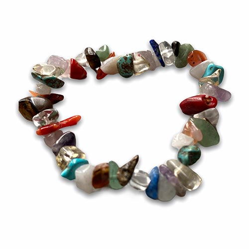 bracelet with mixed colored gemstones