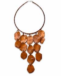 a choker of cascading light brown shells