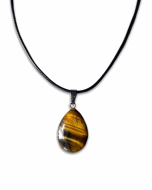 necklace with a tigers eye pendant