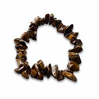 beaded bracelet with tigers eye gemstones
