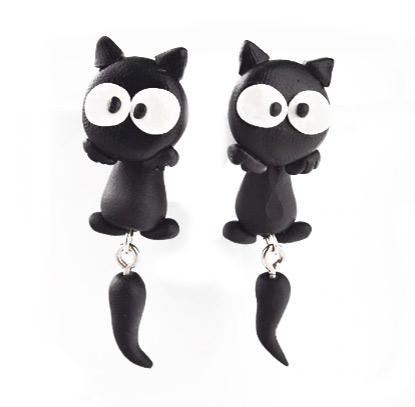 pair of cat earrings