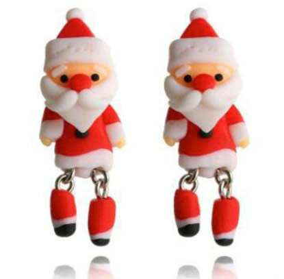 stud earrings of father xmas