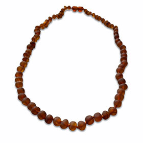 cognac coloured amber necklace