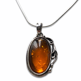 three colours of amber necklace