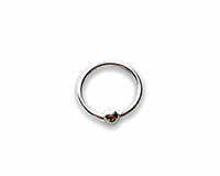 8mm silver nose ring