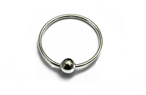 silver nose-rings