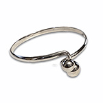 silver bangle with overapping balls