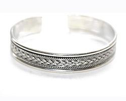 silver torque bangle