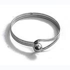 spherical silver bangle
