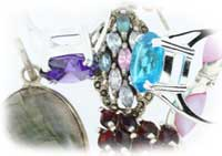 a mixed selection of silver-jewellery