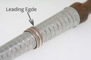 leading edge of a ring