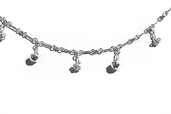 silver anklet with a bell