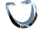 plain silver curved cuff bangle