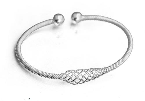 silver helix cuff bangle