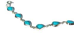 silver blue bracelet