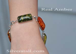 Rectangles of Amber Bracelet