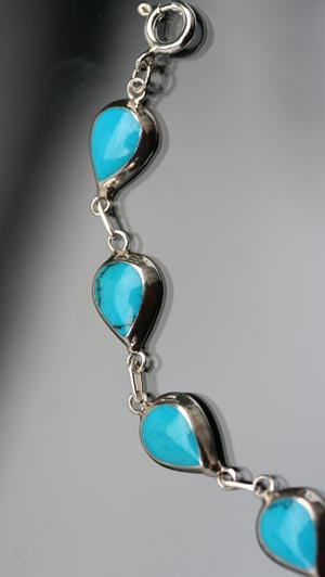 turquoise tear-drop