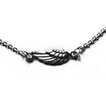 silver bracelet with an angel wing