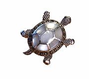 silver turtle brooch