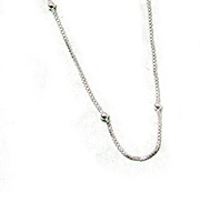 silver chain with spaced balls
