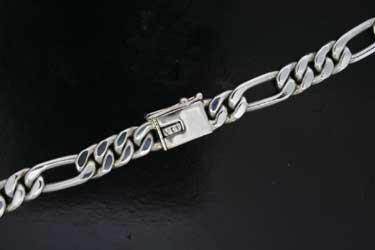 Heavy Figaro Silver Chain