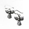 silver earrings of angels