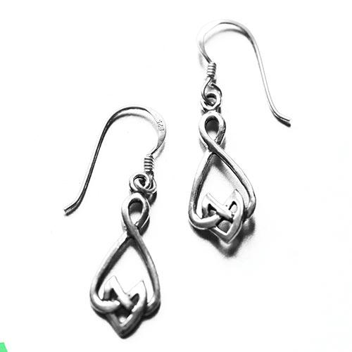 celtic silver earrings