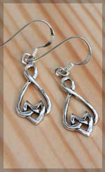 celtic earrings from silver hooks