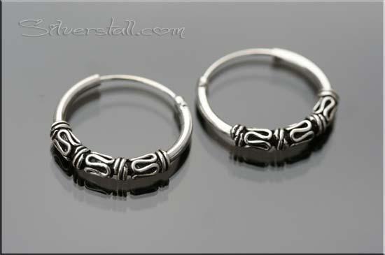 silver bali hoop ear-rings