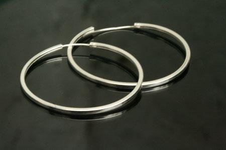 large plain silver hoop earrings