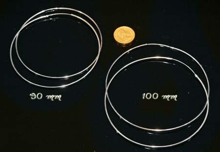 100 mm hoop earrings