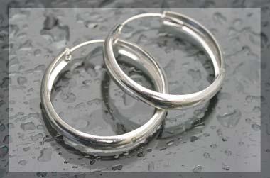 silver creoles
