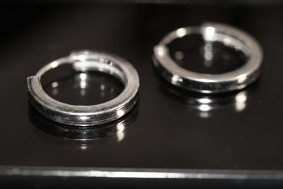 plain silver tubular earrings