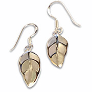 silver leafs with mother of pearl