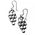 rain-drops silver earrings